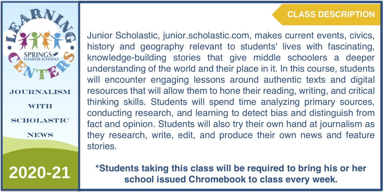 JOURNALISM WITH SCHOLASTIC NEWS